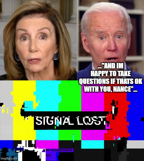 "lost in translation... |  ...""AND IM HAPPY TO TAKE QUESTIONS IF THATS OK WITH YOU, NANCE""... 