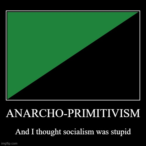 The dumbest political ideology ever! | ANARCHO-PRIMITIVISM | And I thought socialism was stupid | image tagged in demotivationals,politics,anarchy,anarcho-primitivism,stupidity,nature | made w/ Imgflip demotivational maker