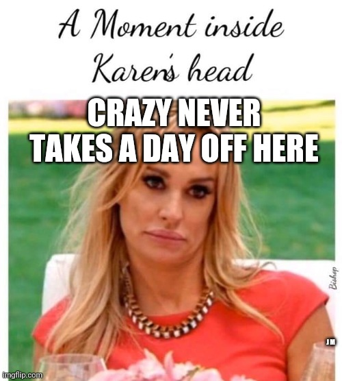 CRAZY NEVER TAKES A DAY OFF HERE; J M | image tagged in karen carpenter and smudge cat,smudge the cat | made w/ Imgflip meme maker