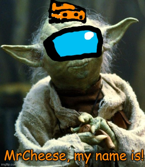 my name mr cheese 6 |  MrCheese, my name is! | image tagged in memes,star wars yoda,mrcheese317 | made w/ Imgflip meme maker