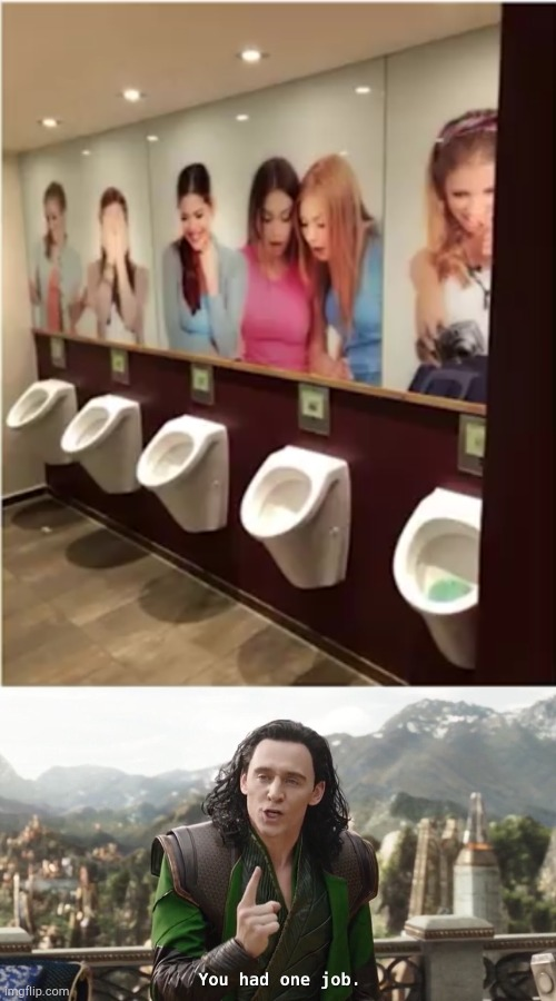 image tagged in you had one job just the one,toilet humor,lol | made w/ Imgflip meme maker