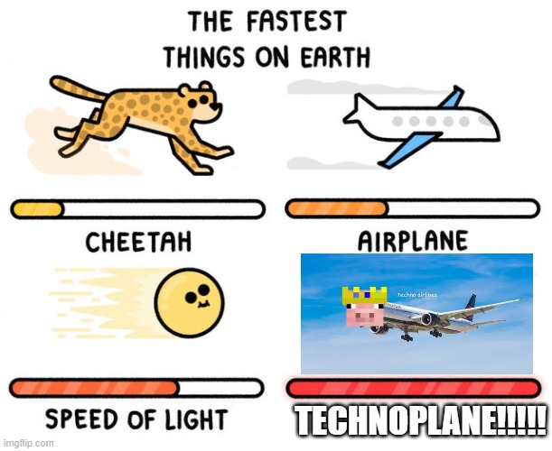 TECHNOBLADE |  TECHNOPLANE!!!!! | image tagged in fastest thing possible | made w/ Imgflip meme maker