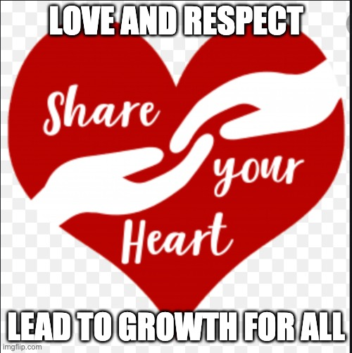 Listening with Love and Respect |  LOVE AND RESPECT; LEAD TO GROWTH FOR ALL | image tagged in listening | made w/ Imgflip meme maker