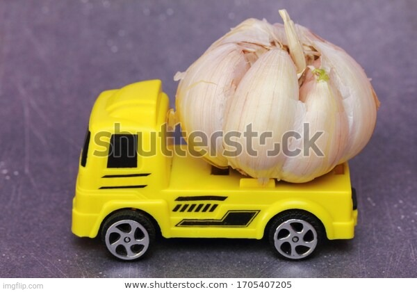 Garlic truck! | image tagged in truck o garlic | made w/ Imgflip meme maker