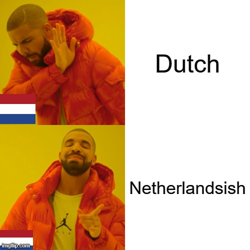 Drake Hotline Bling Meme |  Dutch; Netherlandsish | image tagged in memes,drake hotline bling | made w/ Imgflip meme maker
