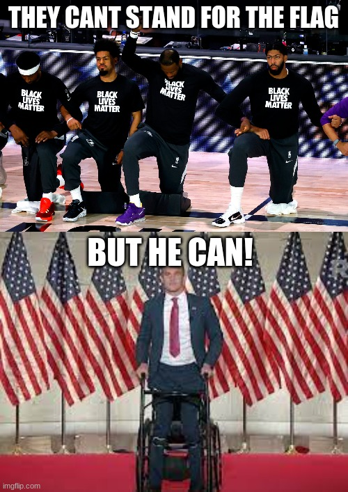 He is proud!!!! |  THEY CANT STAND FOR THE FLAG; BUT HE CAN! | image tagged in memes,politics,america,usa,americanflag,respect | made w/ Imgflip meme maker