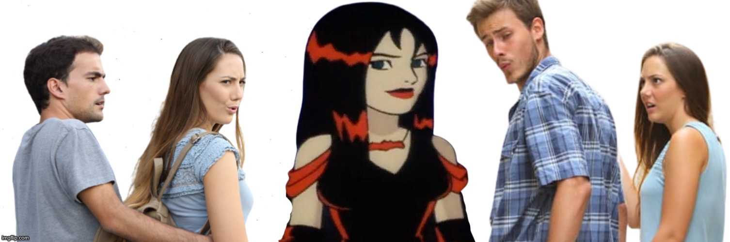 Thorn Hex Girls | image tagged in distracted boyfriend and girlfriend,hex girls,scooby doo,memes,goth,bisexual | made w/ Imgflip meme maker