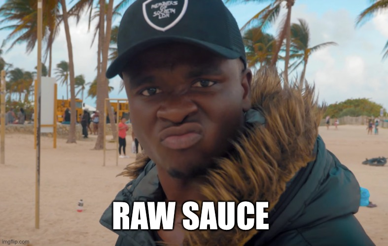 Just Sauce |  RAW SAUCE | image tagged in big shaq,sauce,reddit | made w/ Imgflip meme maker
