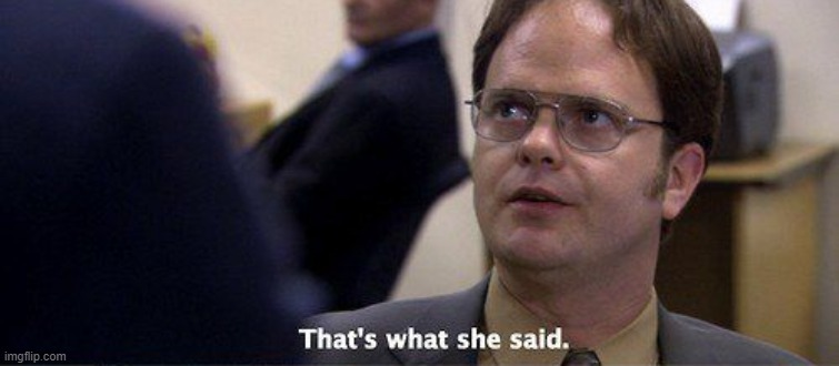Dwight Schrute That's what she said | image tagged in dwight schrute that's what she said | made w/ Imgflip meme maker