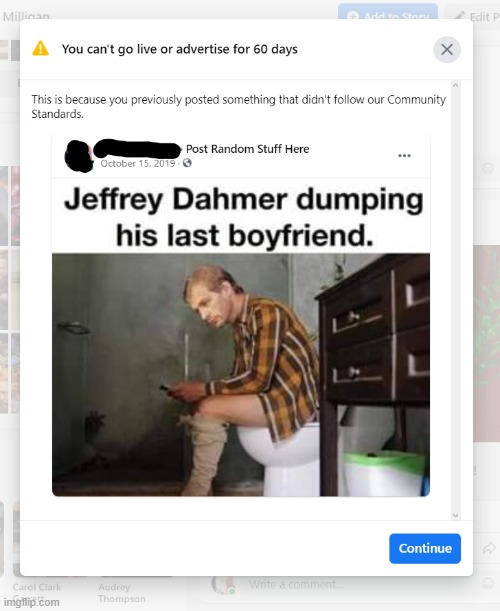 To Hell With Facebook | image tagged in to hell with facebook,fuck facebook,dahmer | made w/ Imgflip meme maker