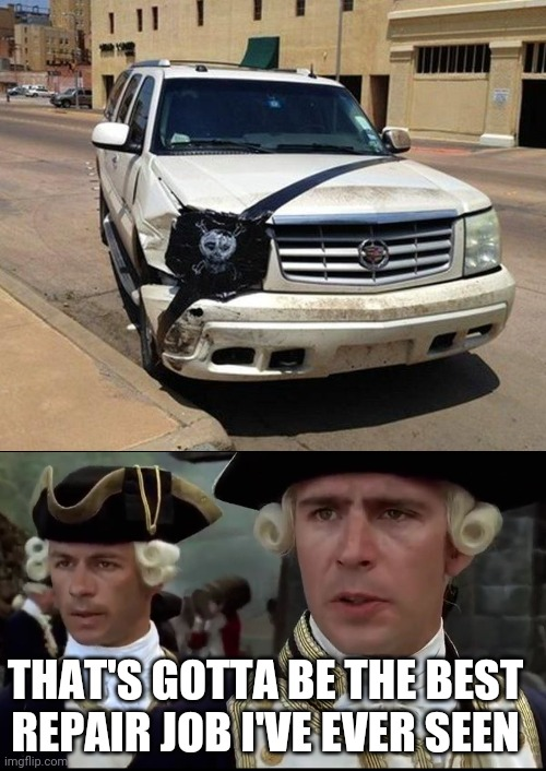 HOW TO PROPERLY FIX A BROKEN HEADLIGHT |  THAT'S GOTTA BE THE BEST REPAIR JOB I'VE EVER SEEN | image tagged in cars,strange cars,pirates of the caribbean,pirate | made w/ Imgflip meme maker