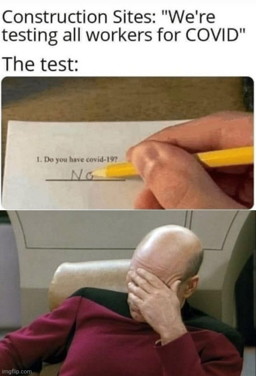 This quiz is dumb... | image tagged in captain picard facepalm,funny,coronavirus,stupid test answers,stupid tests,you had one job just the one | made w/ Imgflip meme maker
