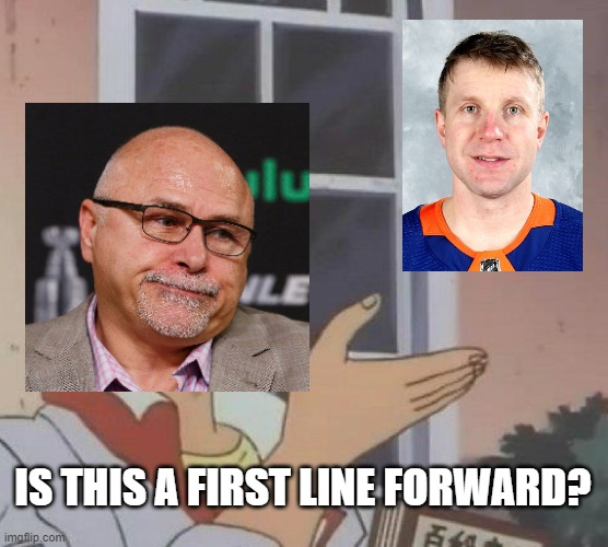 Is This A Pigeon |  IS THIS A FIRST LINE FORWARD? | image tagged in memes,is this a pigeon,hockey | made w/ Imgflip meme maker