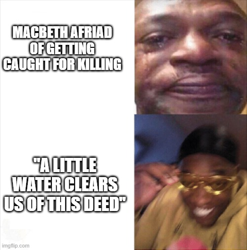 "Macbeth |  MACBETH AFRIAD OF GETTING CAUGHT FOR KILLING; ""A LITTLE WATER CLEARS US OF THIS DEED"" 