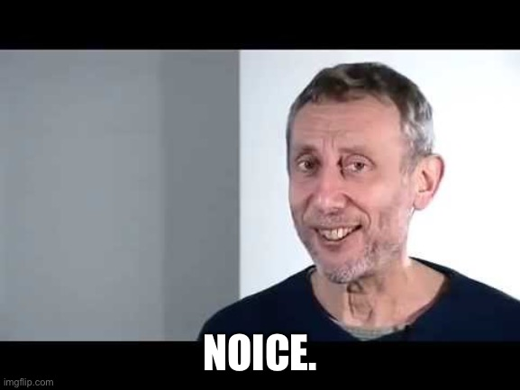Noice |  NOICE. | image tagged in noice,michael rosen | made w/ Imgflip meme maker