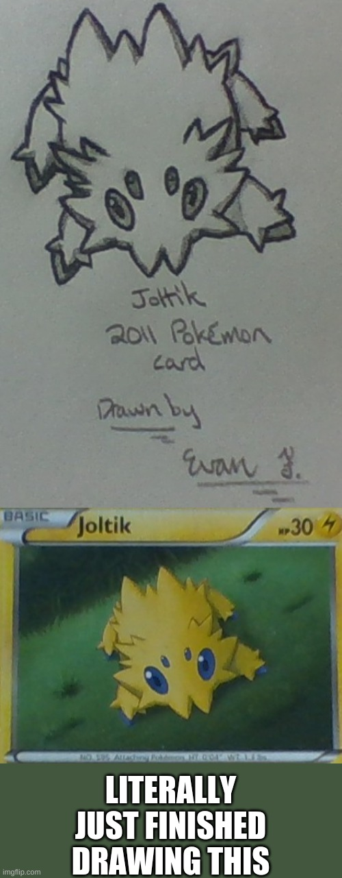 Joltik drawing |  LITERALLY JUST FINISHED DRAWING THIS | image tagged in art,pokemon,drawing | made w/ Imgflip meme maker