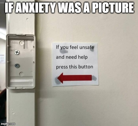 if anxiety was a picture |  IF ANXIETY WAS A PICTURE | image tagged in funny memes,anxiety,level of stress | made w/ Imgflip meme maker
