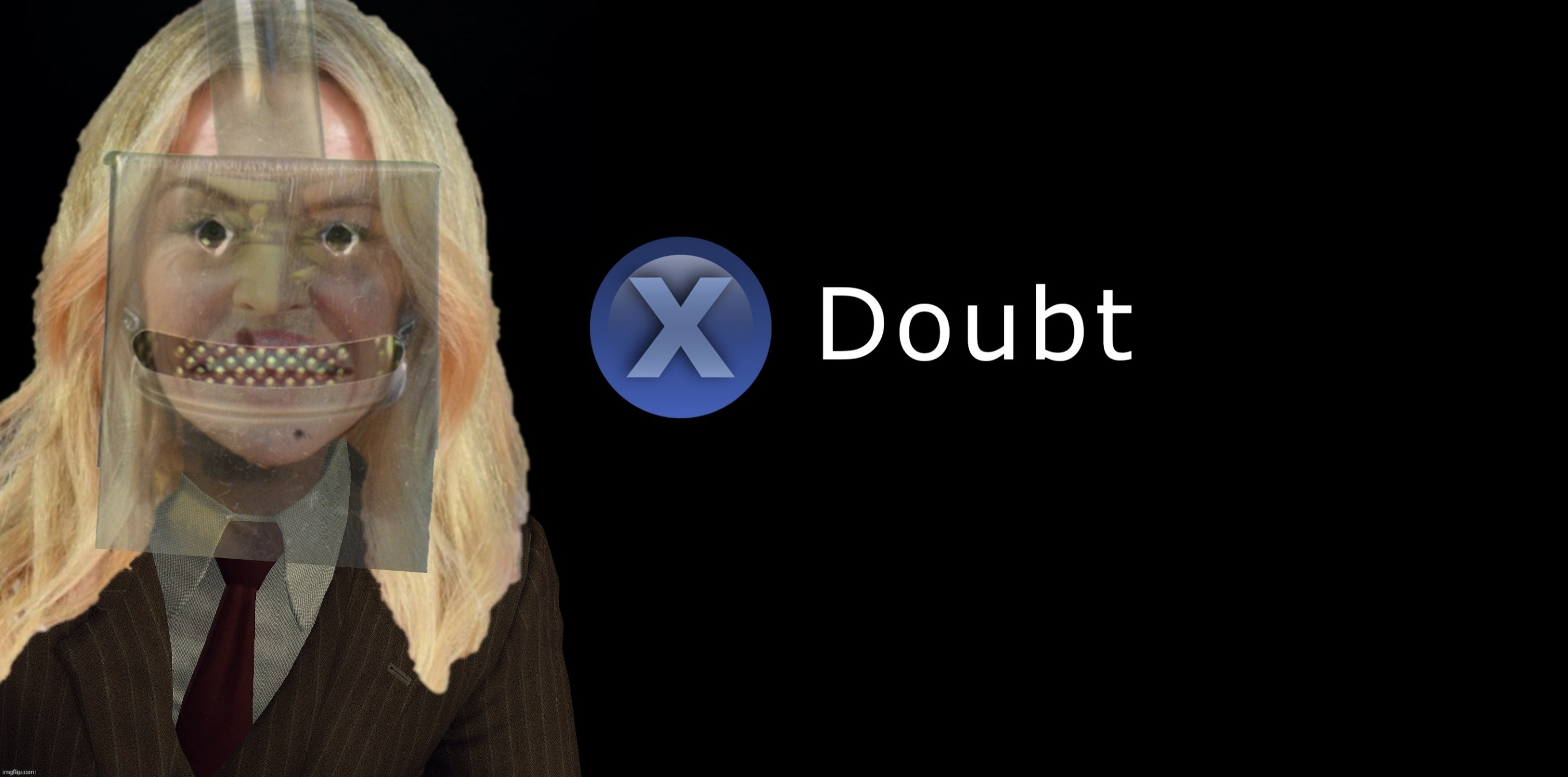 Kylie Minogue Press X to Doubt | image tagged in kylie minogue press x to doubt | made w/ Imgflip meme maker