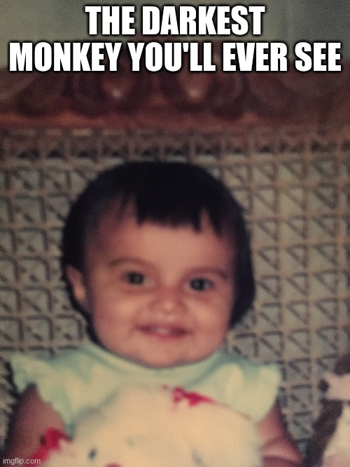 Gen. Z |  THE DARKEST MONKEY YOU'LL EVER SEE | image tagged in joke,funny,viral,hilarious | made w/ Imgflip meme maker