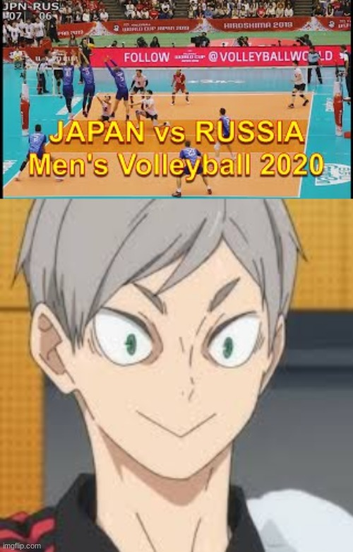 *doesnt know who to cheer for* | image tagged in levhaiba,russia,japan,meanwhile in japan,meanwhile in russia,haikyuu | made w/ Imgflip meme maker