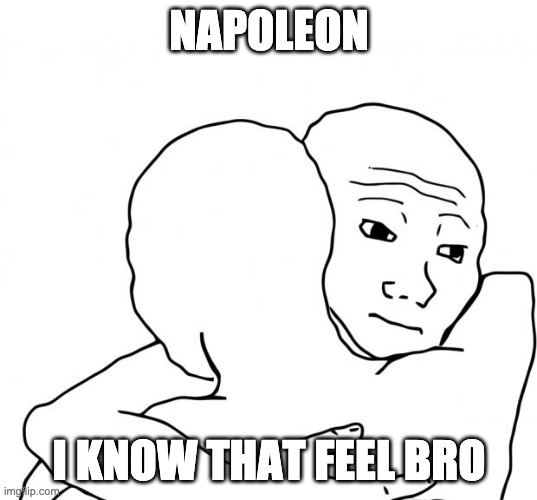 I Know That Feel Bro Meme | NAPOLEON I KNOW THAT FEEL BRO | image tagged in memes,i know that feel bro | made w/ Imgflip meme maker