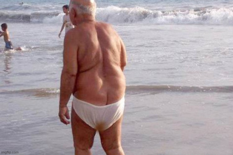 image tagged in old man underwear swim | made w/ Imgflip meme maker