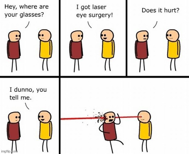 Laser | image tagged in comics/cartoons | made w/ Imgflip meme maker