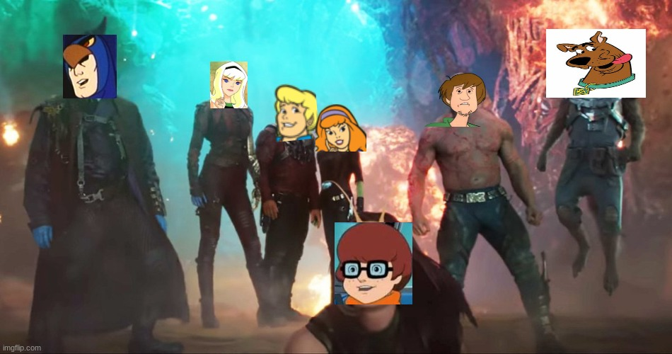 looks about right | image tagged in scooby doo,guardians of the galaxy vol 2 | made w/ Imgflip meme maker