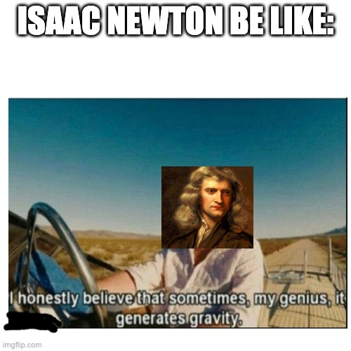 his intelligence did discover gravity |  ISAAC NEWTON BE LIKE: | image tagged in memes | made w/ Imgflip meme maker