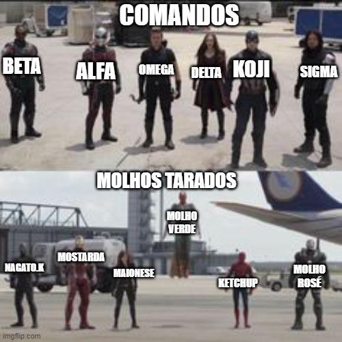 Molhos TARADOS vs Comandos 54hhkn