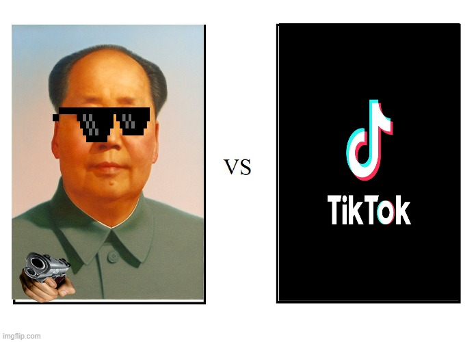 China VS Tiktok (Versus Version) | image tagged in versus,china,mao zedong | made w/ Imgflip meme maker