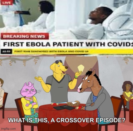 Wait, is this actually a coincidence or are my eyes not working? | image tagged in what is this a crossover episode,covid,crossover,crossover memes | made w/ Imgflip meme maker