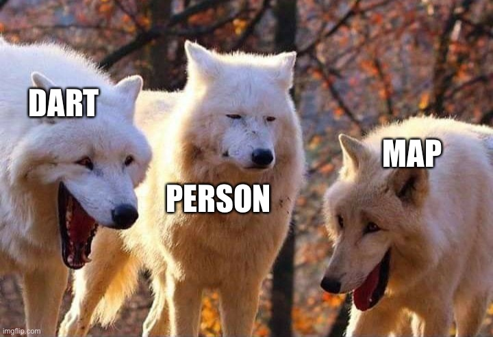 Laughing wolf | DART PERSON MAP | image tagged in laughing wolf | made w/ Imgflip meme maker