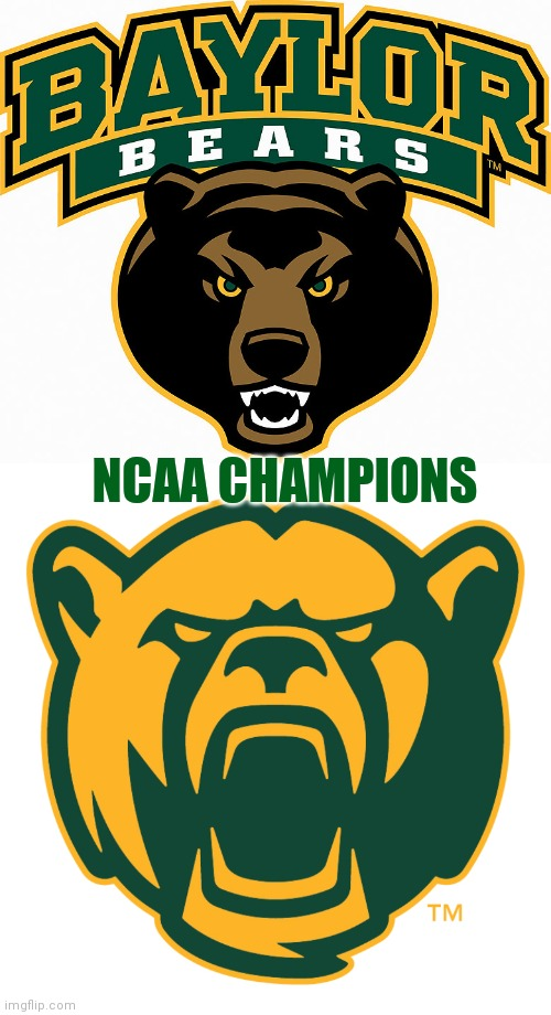 The Bears roar |  NCAA CHAMPIONS | image tagged in champions,basketball,ncaa | made w/ Imgflip meme maker