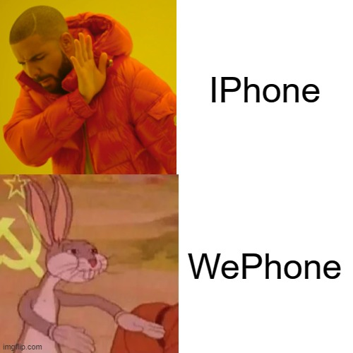 yes |  IPhone; WePhone | image tagged in ussr,cyka blyat,wants to know your location,your mom | made w/ Imgflip meme maker