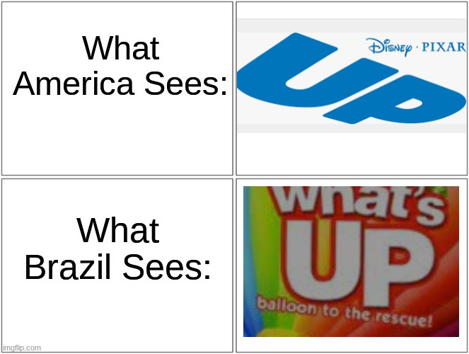 Underwear Products (UP) |  What America Sees:; What Brazil Sees: | image tagged in memes,blank comic panel 2x2 | made w/ Imgflip meme maker