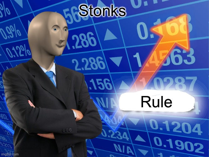 Empty Stonks |  Stonks; Rule | image tagged in empty stonks | made w/ Imgflip meme maker