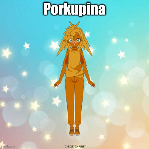 sry its late |  Porkupina | image tagged in charat | made w/ Imgflip meme maker