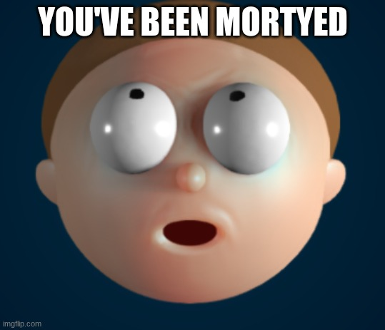 YOU'VE BEEN MORTYED | image tagged in morty | made w/ Imgflip meme maker