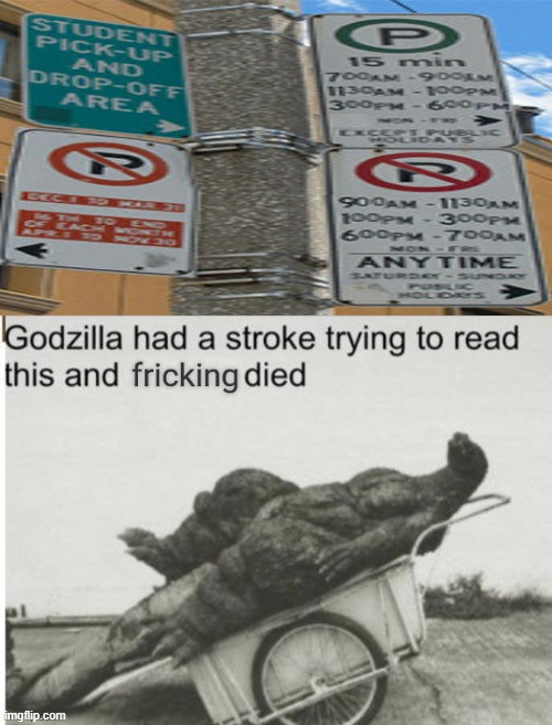 I stretched it out so its easier to see (I couldn't even read it). | image tagged in godzilla had a stroke trying to read this and fricking died | made w/ Imgflip meme maker