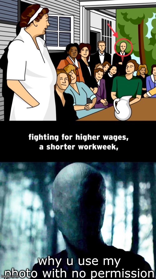 slenderman secret in brainpop movie |  why u use my photo with no permission | image tagged in slenderman | made w/ Imgflip meme maker