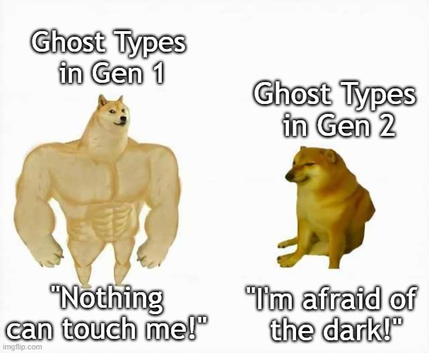 "Pokémon Ghost Types |  Ghost Types  in Gen 1; Ghost Types  in Gen 2; ""Nothing can touch me!""; ""I'm afraid of  the dark!"" 