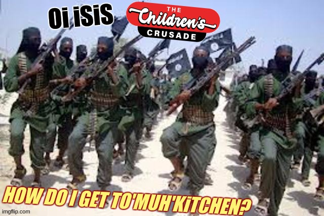 https://youtu.be/_RBQ2Uorw1U?t=1 | HOW DO I GET TO'MUH'KiTCHEN? Oi iSiS | image tagged in hello again,isis,identity crisis,how are all of you today,r u receiving me ova,how do i get 2 muh'kitchen | made w/ Imgflip meme maker