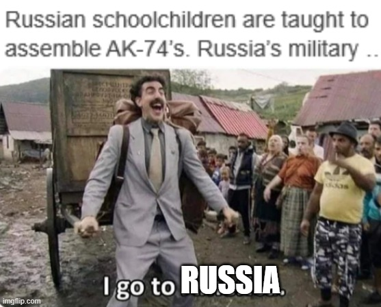 RUSSIA | image tagged in i go to america | made w/ Imgflip meme maker