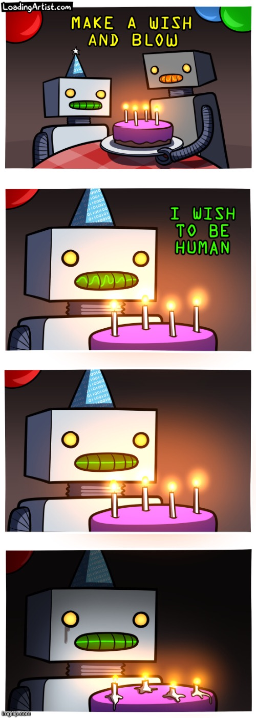 Poor robot | image tagged in memes,funny,comics,loading artist | made w/ Imgflip meme maker