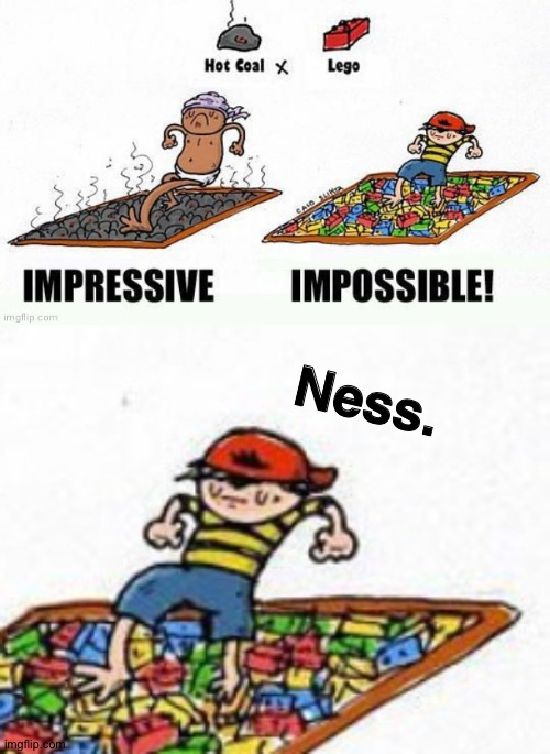 The kid looks like Ness |  Ness. | image tagged in ness,earthbound,mother,pk fire,oh wow are you actually reading these tags | made w/ Imgflip meme maker