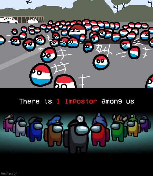 One imposter | image tagged in random luxembourg event,find the imposter | made w/ Imgflip meme maker