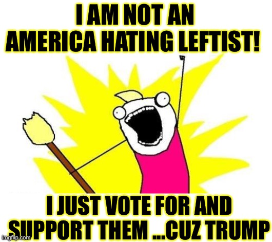 Lay with dogs and you'll get fleas |  I AM NOT AN AMERICA HATING LEFTIST! I JUST VOTE FOR AND SUPPORT THEM ...CUZ TRUMP | image tagged in democrats,democratic socialism,leftists,woke,joke,never trump | made w/ Imgflip meme maker