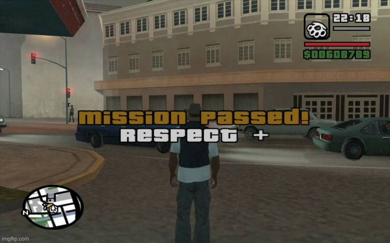 image tagged in gta mission passed respect | made w/ Imgflip meme maker