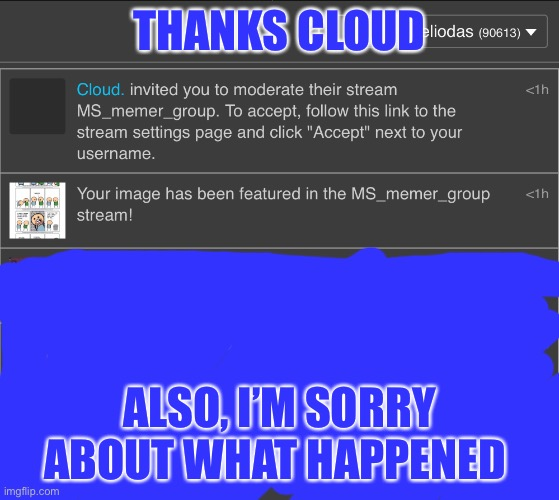 Blue and white are iconic colors when put together |  THANKS CLOUD; ALSO, I'M SORRY ABOUT WHAT HAPPENED | image tagged in disney killed star wars,star wars kills disney | made w/ Imgflip meme maker